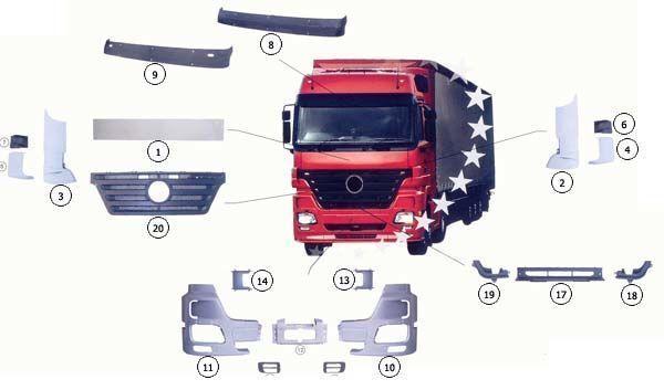 9437500518 capotă pentru MERCEDES-BENZ ACTROS MP2 camion nou