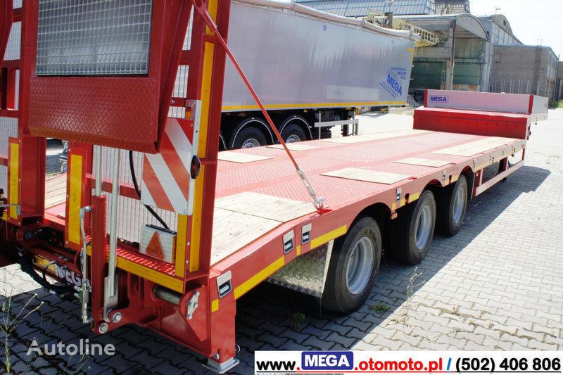 MEGA 3 AXEL LOWBED SEMI-TTRAILER / HYDRAULIC RAMPS!! semiremorcă transport agabaritic nouă