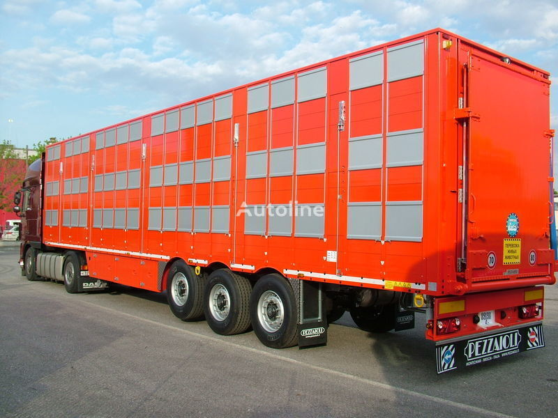 PEZZAIOLI SBA63 3 etazha zagruzki semiremorcă transport animale nouă