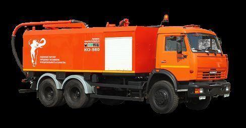 KAMAZ KO-560 autocuratitor combinat