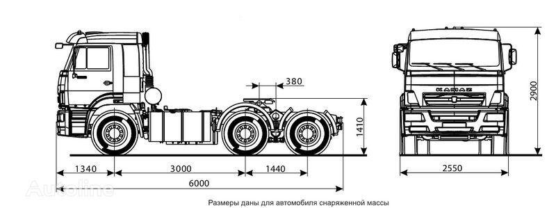 KAMAZ 6460 (6h4) autotractor
