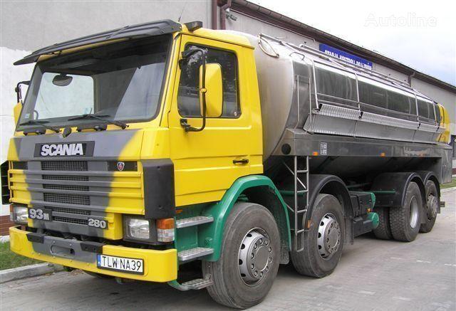 SCANIA 93M Cysterna Spożywcza camion cisternă pentru transport lapte