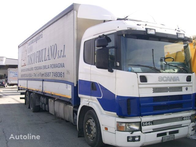SCANIA 144L460 camion cu prelata