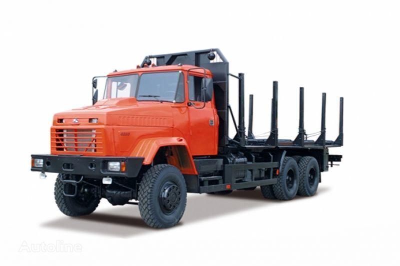 KRAZ 6233M6  camion transport de lemne