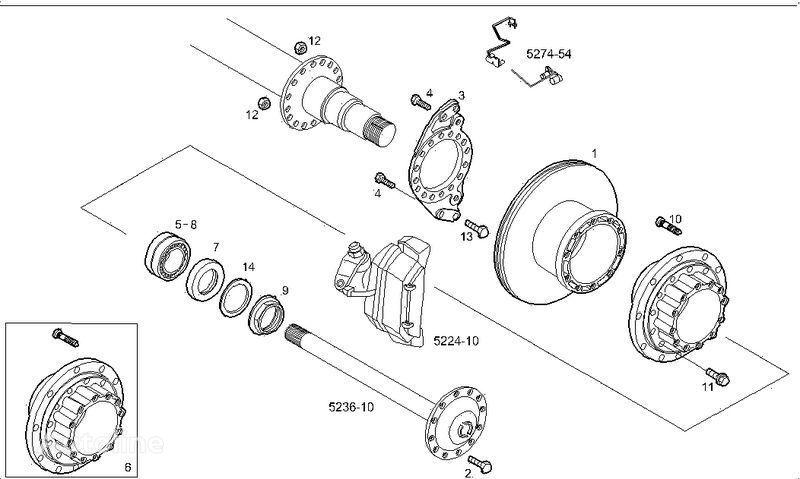 2995812 2996328 7185503 7189476 disc de frână pentru IVECO STRALIS camion nou