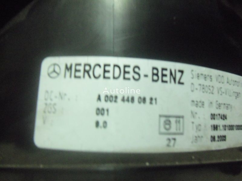Mercedes Benz Actros MP2, MP3, MP4, INS electronic instrument panel 0024461321 cluster, 0024464321, 0024467421, 0024469921, 0034460521, 0044460621, 0044461821, 0014467021, 0024460721, 0024461421, 0024464421, 0024467521, 0034460021, 0034460621, 0044461921, panou cu dispozitive pentru MERCEDES-BENZ Actros autotractor