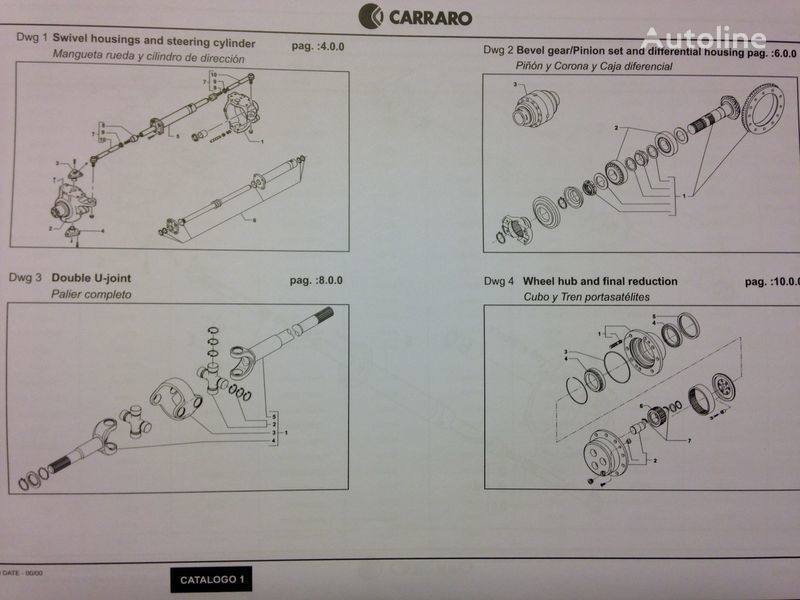 CARRARO punte motoare pentru CASE IH excavator