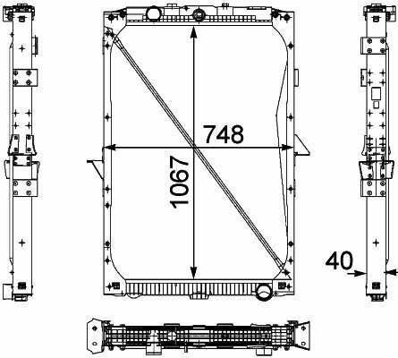 1674136. 1692332. 1739550 .1856628. 8MK376 733-7111861737. 1861737R radiator pentru DAF XF95.105XF camion nou