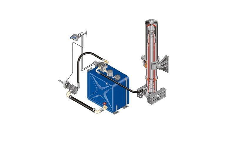 Komplekt gidravliki ITALIYa/AVSTRIYa/na MAN/DAF/IVECO/RENAULT rezervor hidraulic pentru autotractor nou