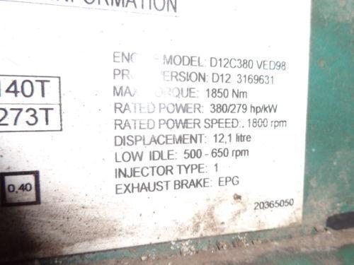 VOLVO D12C 380 HP engine computer EDC 20365050 ECU, 3169631, 3161952, 20412506, 3161962, 20577131, 20582958, 85111405, 85107712, 85103340, 3099133, 8500011, 85000086, 85000388, 85000846, 8113577, 85111405, 8113577, 3099133 unitate de control pentru VOLVO FH12 camion