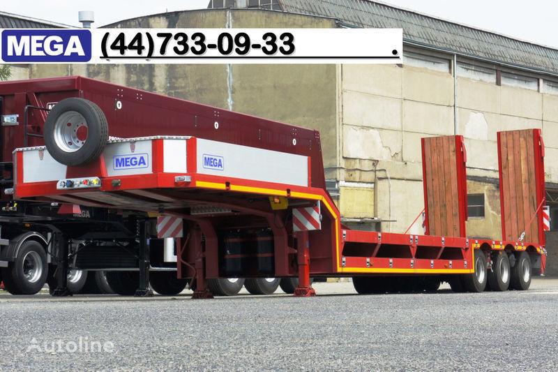 MEGA 3 OSIOWA / ZANIŻONY POKŁAD / NAJAZDY HYDRAULICZNE!! semiremorcă transport agabaritic nouă