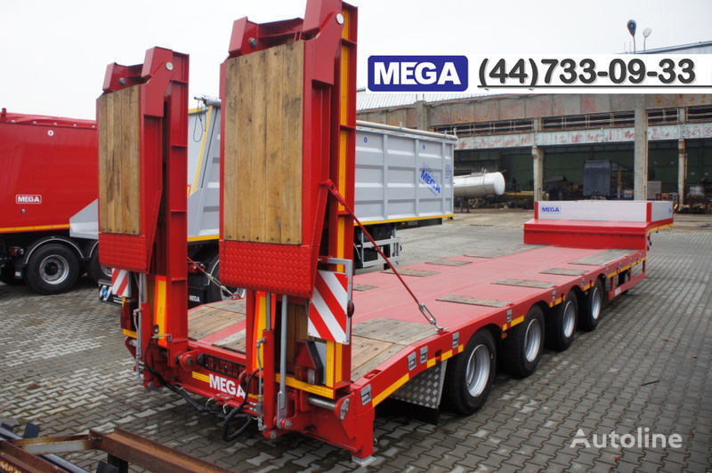 MEGA 4 AXEL FLATBED / HYDRAULIC RAMPS / UP TO 45 T! semiremorcă transport agabaritic nouă