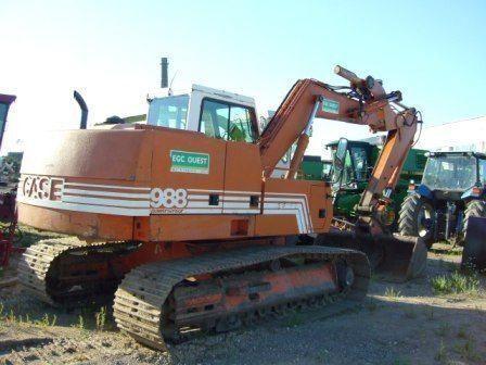 CASE 988 excavator pe şenile
