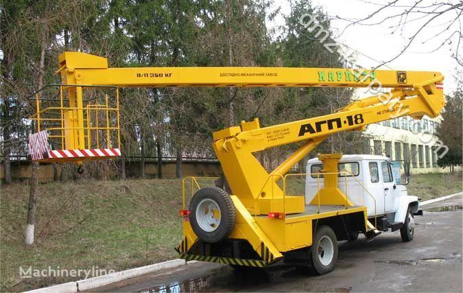GAZ Avtogidropodemnik AGP-18 (Avtovyshka) nacelă pe camion
