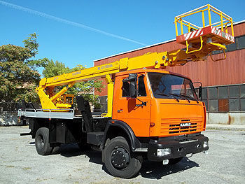 KAMAZ AP-22 nacelă pe camion