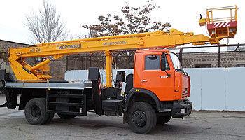 KAMAZ AP-28 nacelă pe camion
