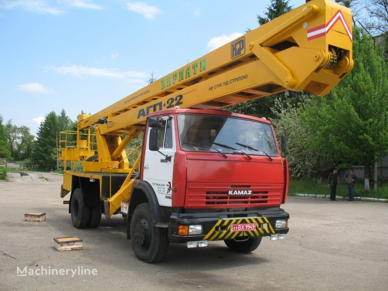 KAMAZ Avtogidropodemnik AGP-22 (Avtovyshka) nacelă pe camion