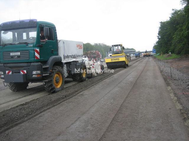 MAN amag Polymer Recycler mit Wirtgen WS 250 reciclare asfalt